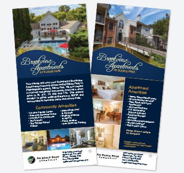 brookview apartments at elkins park 45x925 rack card