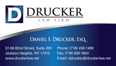 Business cards stationery samples long island print company drucker law firm stationery and business cards reheart Choice Image