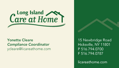 Business cards stationery samples long island print company long island care at home stationery and business cards reheart Image collections