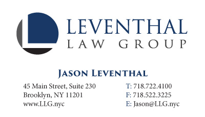 Business cards stationery samples long island print company leventhal law group stationery and business cards reheart Image collections