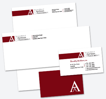 Business cards stationery samples long island print company the law offices of atchison associates pc stationery and business cards colourmoves